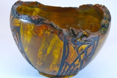 16.1 Bowl Dyed Box Elder 9x6 SOLD