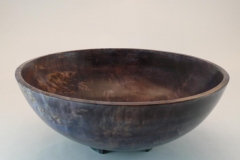 "SOLD 22.1 Bowl Three legged Dyed Maple 11.5""x4.5"""