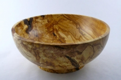 "SOLD 52.1 Bowl Spalted Birch 13"".5x5.5"""