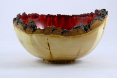 "56.1 Bowl Partially Dyed Box Elder 8.5""x5"""