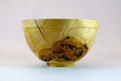 "SOLD 57.1 Bowl Bark Inclusion Box Elder 7""x4"""