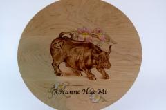 SOLD 19.1 Platter Bull Maple 15''x1''