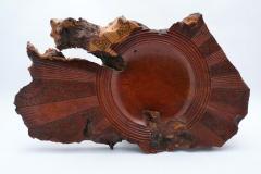 "4.1 Sculpture Red Wood 18""x10""x1"""