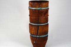 "17.1 Hollow Form Old World Vessel Box Elder 12.5""x5"""