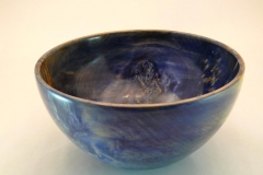 "SOLD 27.1 Bowl Dyed Maple 9.5""x4.5"""