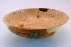 "39.1 Bowl Stone Inlay Maple 8.5""x2"" SOLD"
