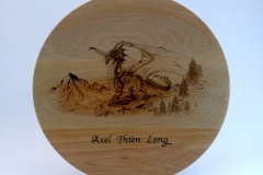 "SOLD 12.1 Platter Dragon Maple 15""x1"""