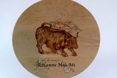 SOLD 19.1 Platter Bull Maple 15''x1''