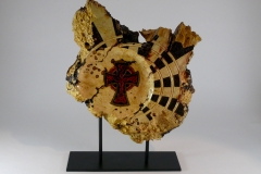 28.1  Infinity Sculpture Box Elder 18''x13''x3''
