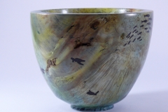 "36.1 Hollow Form Box Elder 8''x6'' ""Mike's World"""